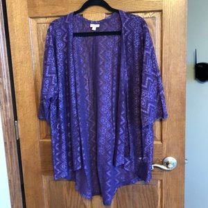 Lularoe Purple Lace Lindsay NWOT